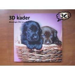 3D kader met hondjes