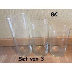 Set van 3 vazen